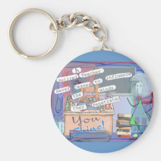 Retired Teacher Art Gifts Keychain