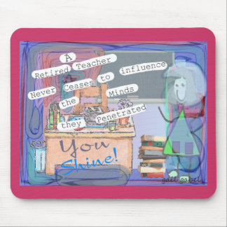 Retired Teacher Art Gifts Mouse Pad