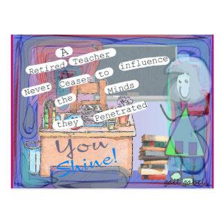 Retired Teacher Art Gifts Postcard