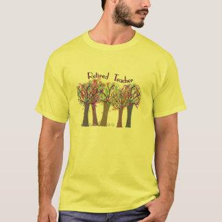 Retired Teacher Artsy Trees Design T-Shirt