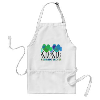 Retired Teacher Artsy Trees Gifts Adult Apron