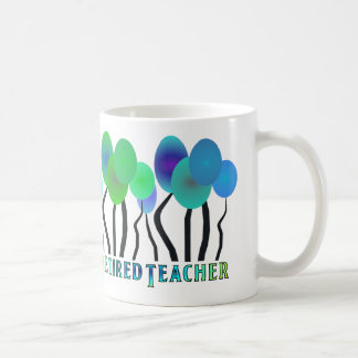 Retired Teacher Artsy Trees Gifts Coffee Mug