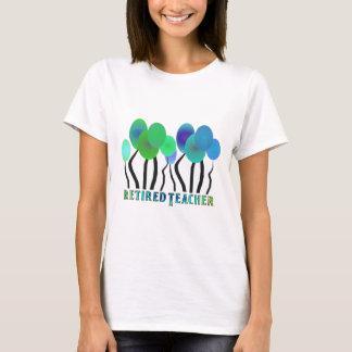 Retired Teacher Artsy Trees Gifts T-Shirt