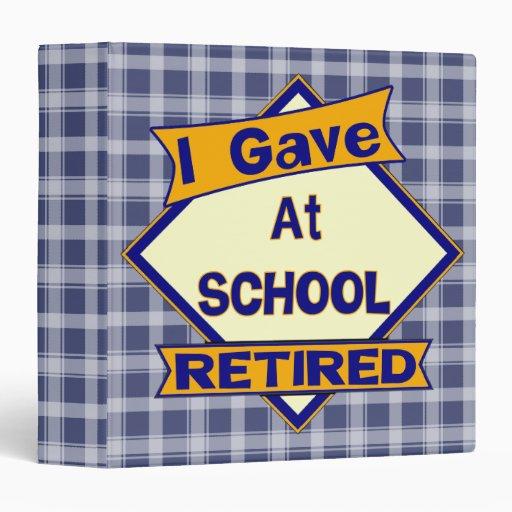 Retired Teacher Avery Binder