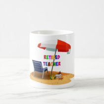 Retired Teacher, Beach Scene (revised) Coffee Mug