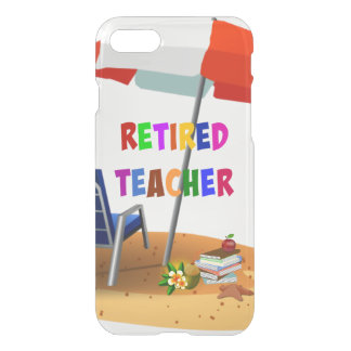 Retired Teacher, Beach Scene (revised) iPhone 8/7 Case