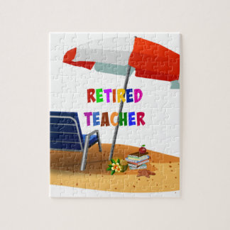 Retired Teacher, Beach Scene (revised) Jigsaw Puzzle