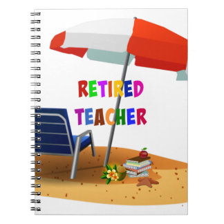 Retired Teacher, Beach Scene (revised) Spiral Notebook