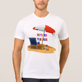 Retired Teacher, Beach Scene T-Shirt