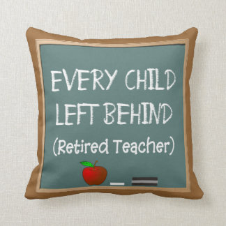 Retired Teacher Chalk Board Design Pillow