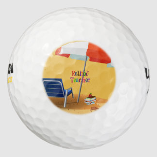 Retired Teacher custom design Golf Balls