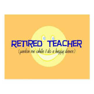 "Retired Teacher ""Doing The Happy Dance"" Postcard"