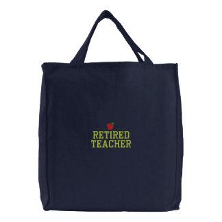 Retired Teacher Embroidered Bag