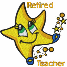 Retired Teacher Embroidered Shirt at Zazzle
