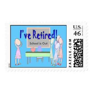 Retired Teacher Female Postage Stamps