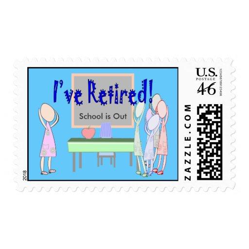 Retired Teacher (Female) Postage Stamps
