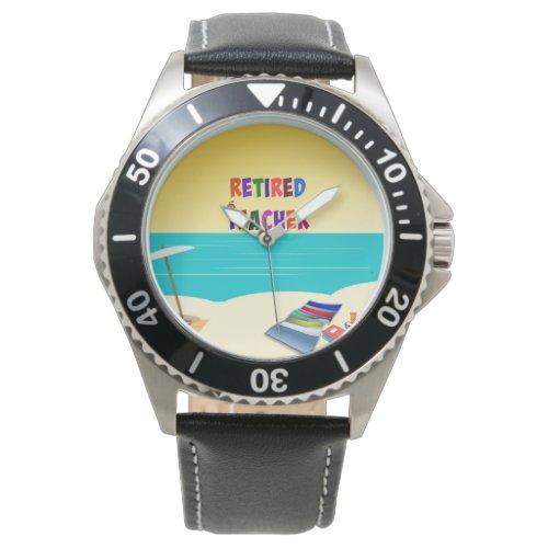 Retired Teacher, Fun in the Sun Wrist Watches