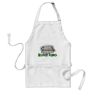 Retired Teacher (Funny Stack of Books Design) Adult Apron