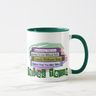 Retired Teacher (Funny Stack of Books Design) Mug