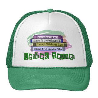 Retired Teacher (Funny Stack of Books Design) Trucker Hat