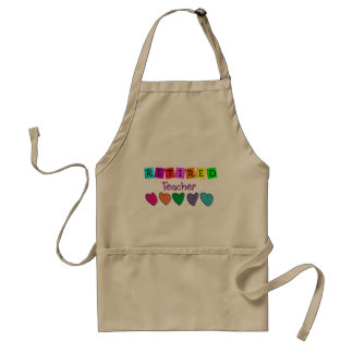 Retired Teacher Gifts Adult Apron