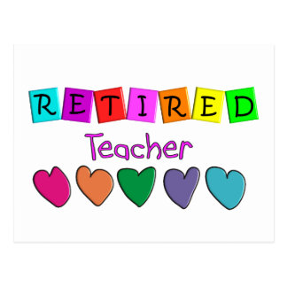 Retired Teacher Gifts Post Cards
