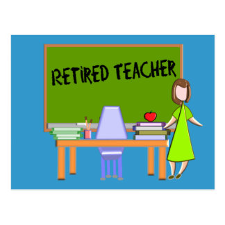Retired Teacher Gifts Postcard
