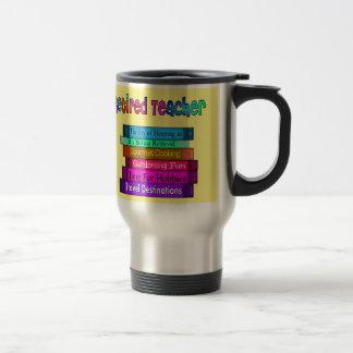Retired Teacher Gifts Stack of Books Design 7 Travel Mug