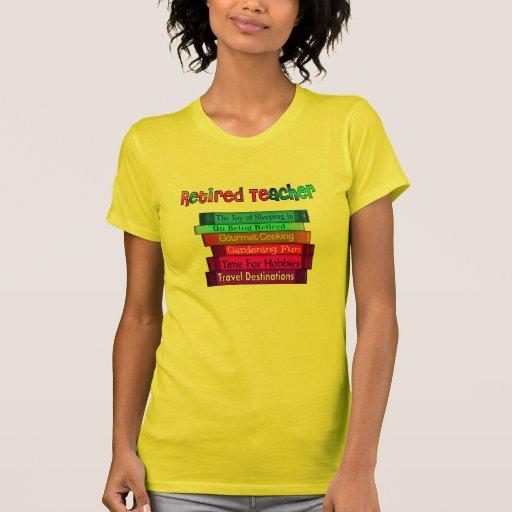 Retired Teacher Gifts Stack of Books Design T-shirt