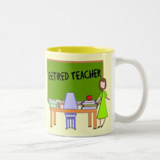 Retired Teacher Gifts Two-Tone Coffee Mug