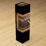 """Retired Teacher Happy Retirement Wine gift Box<br><div class=""""desc"""">Customizable Retirement Wine Box with a vintage school slate and white lettering. Perfect for retired Teachers. Don&#39;t forget the whole collection.</div>"""