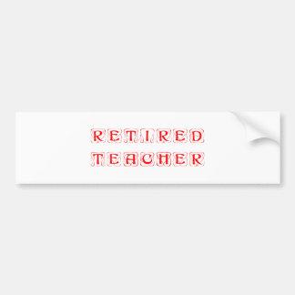 retired-teacher-kon-red.png bumper sticker
