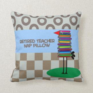 Retired Teacher Nap Pillow Book Bird