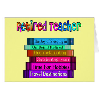 Retired Teacher Note Cards