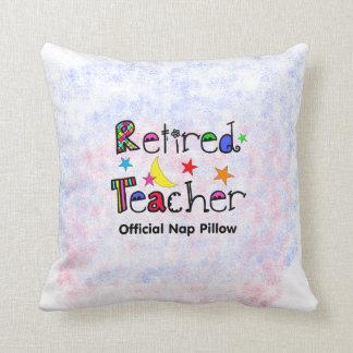 Retired Teacher PIllow Fun Nap Pillow