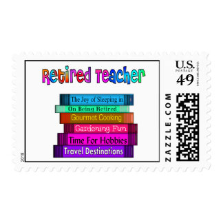 Retired Teacher Postage Stamps