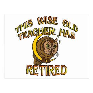 RETIRED TEACHER POSTCARD