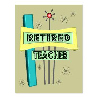 Retired Teacher RETRO Design Postcard