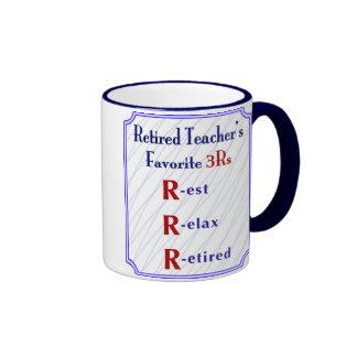 Retired Teacher s Mug 3Rs -