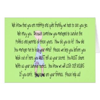 "Retired Teacher Story Art~~ ""Please Help Us"" Card"