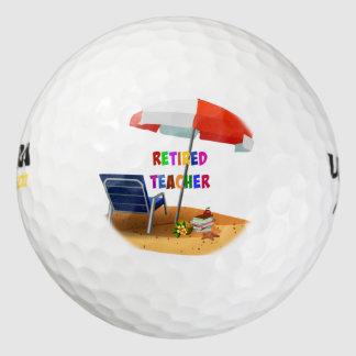 Retired Teacher, Time to Relax Golf Balls