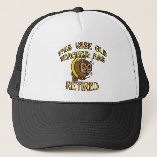 RETIRED TEACHER TRUCKER HAT