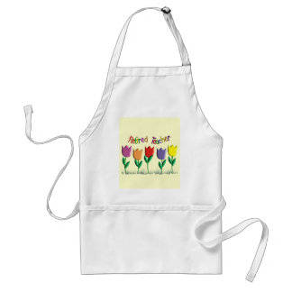 Retired Teacher Tulips Design Gifts Adult Apron