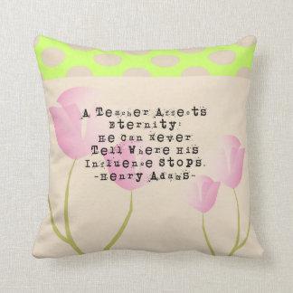 Retired Teacher Tulips Nap Pillow