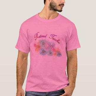 Retired Teacher Whispy Flowers Gifts T-Shirt