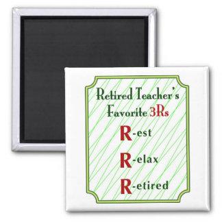 Retired Teachers Magnet: 3Rs -