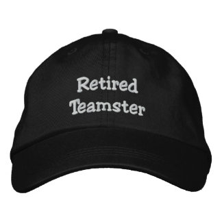 Retired Teamster Personalized Adjustable Hat
