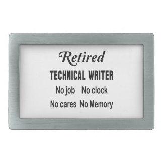 Retired Technical writer No job No clock No cares Belt Buckle