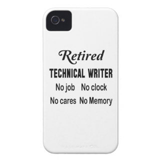Retired Technical writer No job No clock No cares iPhone 4 Cover