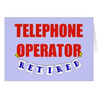 Retired Telephone Operator Greeting Card